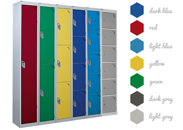 Armour Standard Lockers - Colour Options