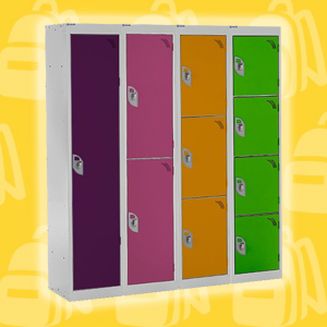 Spectrum School Lockers - 1356mm