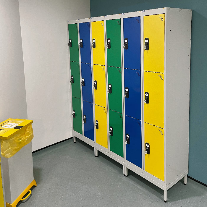 TUFF Lockers in a changing room