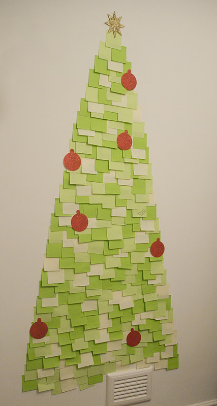 post-it-note-christmas-tree-pinterest