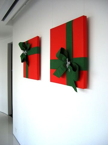 Wrapped Art Office Christmas Decoration