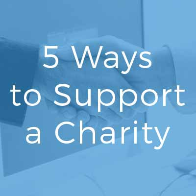 Ways for Business to Support Charity