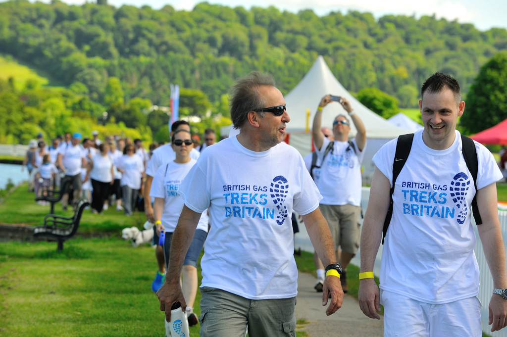 British Gas trek for Shelter Charity