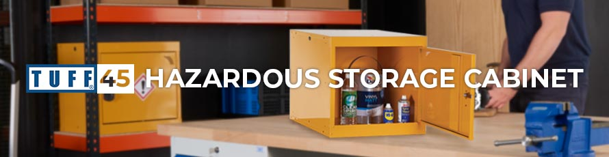 TUFF 45 Hazardous Storage Cabinet Banner