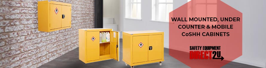 Wall Mounted, Under Counter and Mobile CoSHH Cabinets