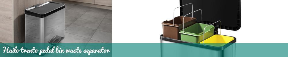 Hailo Trento Pedal Bin Waste Separator