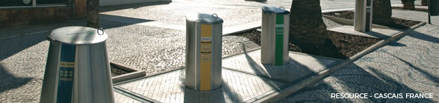 underground bins viewed from the surface
