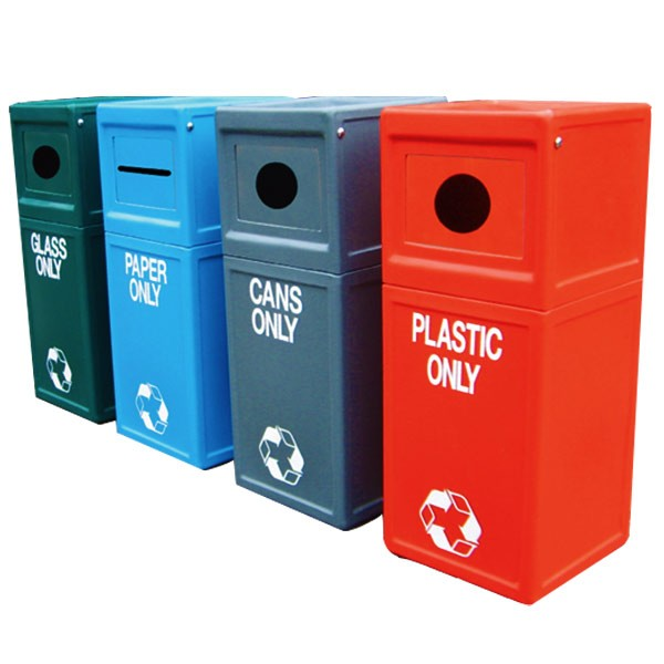 Square Recycling Litter Bins