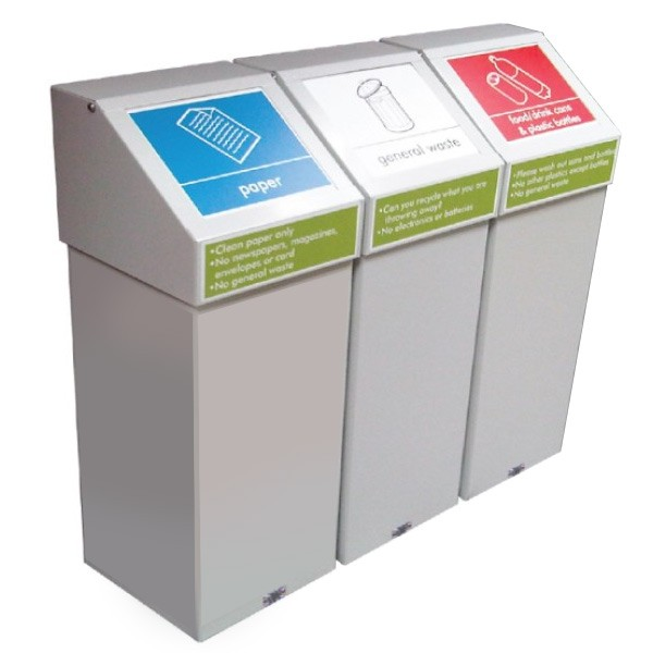 Self Closing Steel Recycling Bins