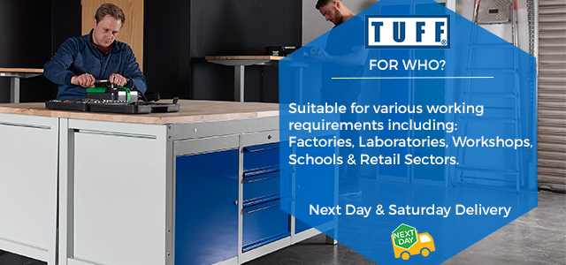 TUFF Heavy Duty Workbench - designed for industrial use