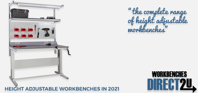 Heavy Duty Manual Height Adjustable Workbenches