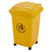 50 litre wheelie bin yellow
