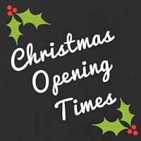Merry Christmas – Opening Times