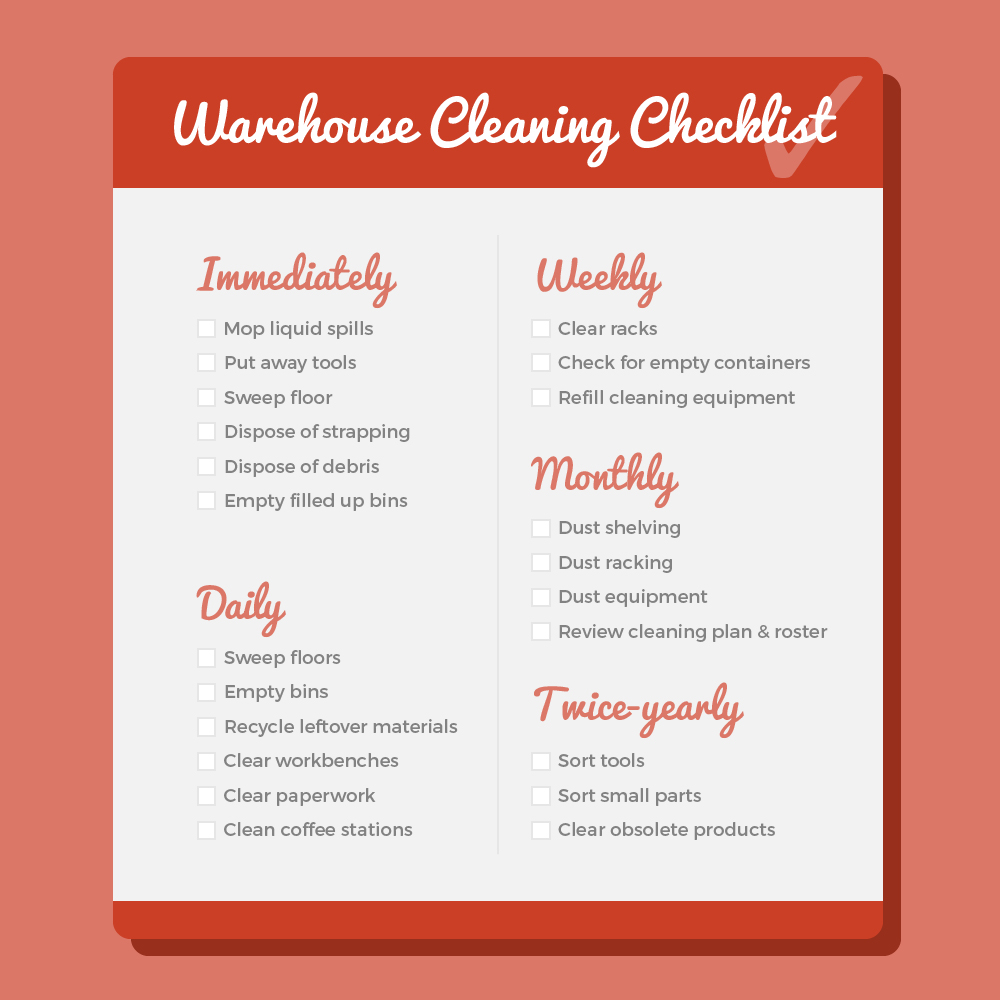Warehouse Cleaning Checklist