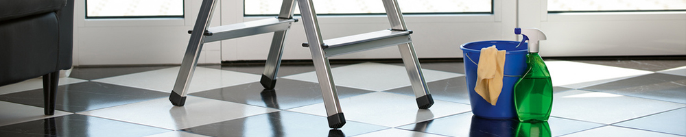 Hailo Small Folding Steps being use in domestic situation