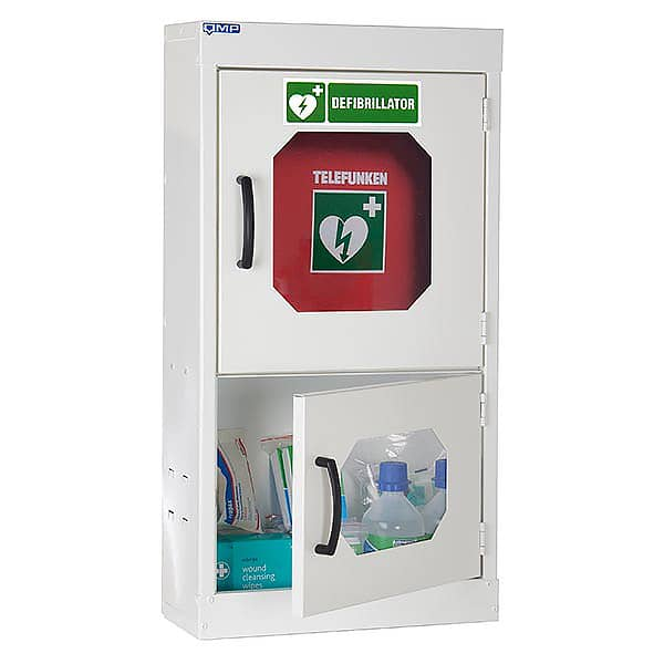 First Aid Cabinet with Defibrillator