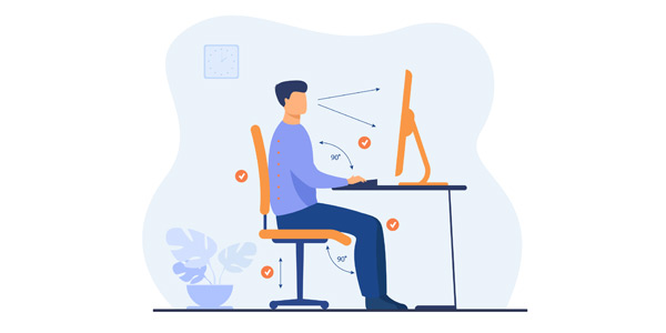 Working ergonomically, correct posture, ergonomics