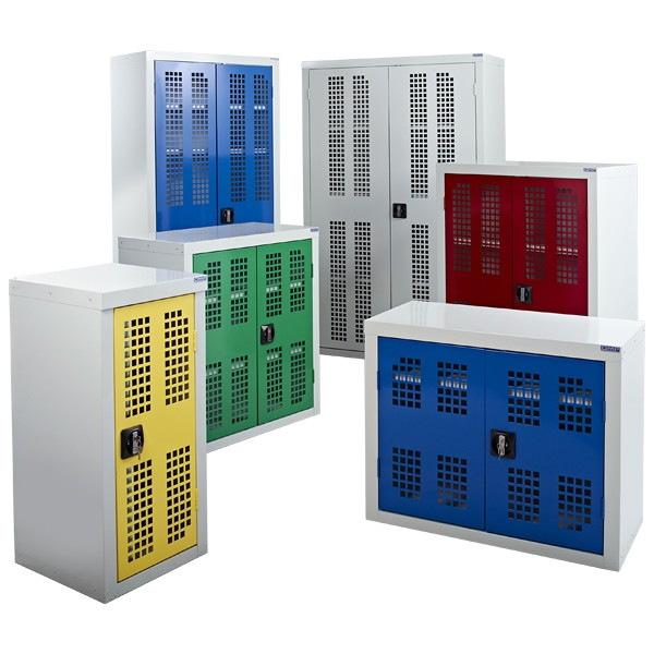 Perforated Door Storage Cabinets
